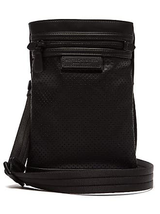 Bottega Veneta Perforated Leather Cross Body Bag - Mens - Black