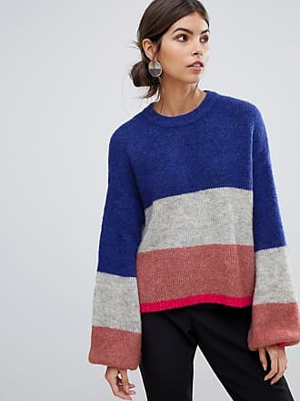 Y.A.S stripe brushed knitted sweater - Multi