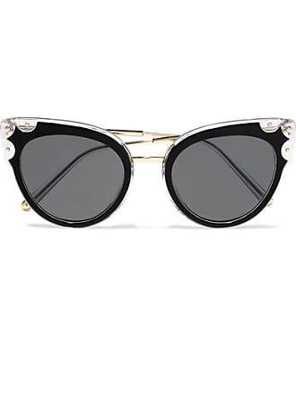 c57d06efda40 Dolce   Gabbana Cat-eye Studded Gold-tone And Acetate Sunglasses