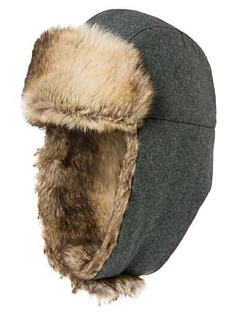 de0d6e79b03a9 Siggi Unisex Winter Grey Wool Trooper Trapper Russian Bomber Hat Ushanka Men  Earflap Hats