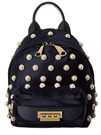 Zac Posen Eartha Iconic Micro Chain Backpack Satin Pearl Lady Parsian Nights, Parisian