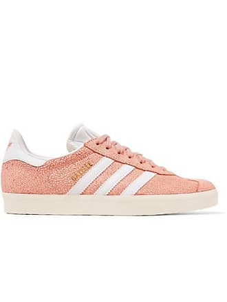 adidas Originals Gazelle Cracked-suede Sneakers - Peach