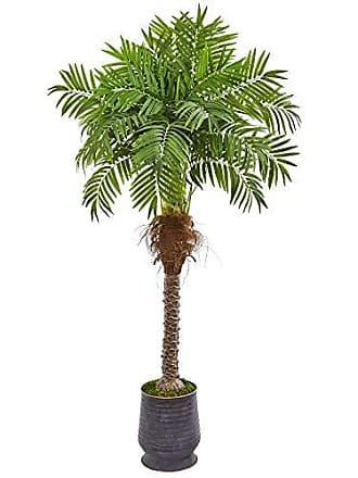 Nearly Natural 9555 71 Robellini Palm Artificial Decorative Planter Silk Trees Green