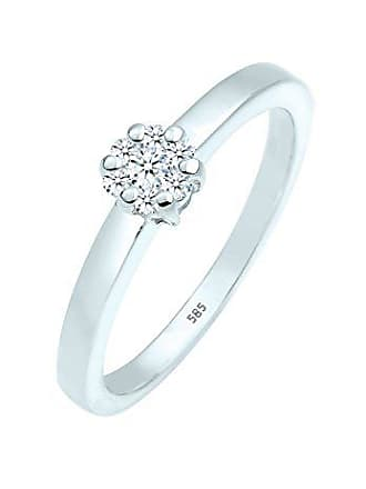 8fe26a6dbb31 DIAMORE Anillo de compromiso Diamore Damen-anillo de apilamiento 585  Diamantes de corte brillante blanco
