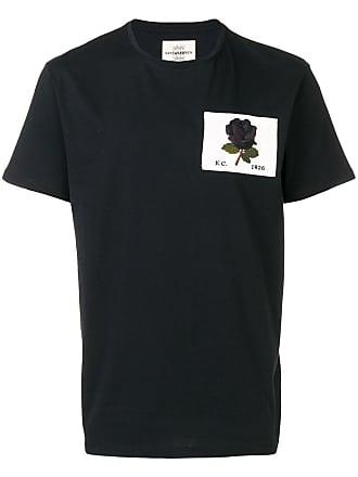 Kent & Curwen printed Rose T-shirt - Black