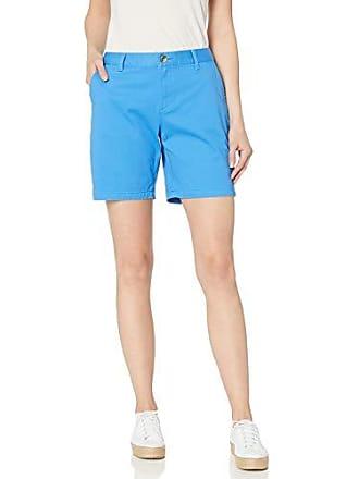Amazon Essentials Womens 7 Inseam Solid Chino Short, Bright Blue, 8