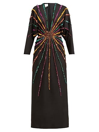 240c171588c62 Gucci Sunray Sequinned Silk Crepe Gown - Womens - Black Multi
