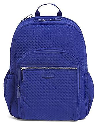 Vera Bradley Iconic Campus Backpack, Microfiber, Gage Blue