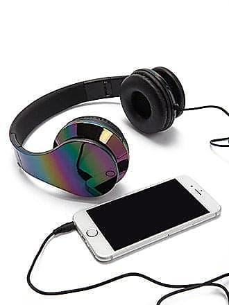 Forever 21 Forever 21 Iridescent Oil-Slick Headphones Green/multi