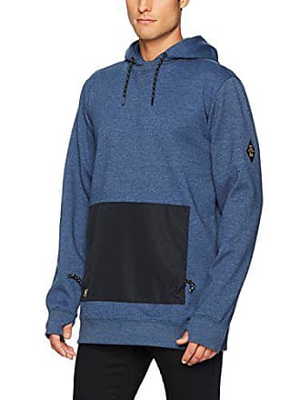 DC Mens Cloak Snow Water Resistant Pullover Sweatshirt, Insignia Blue, M
