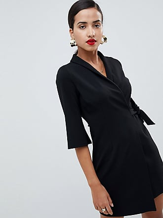 ea0c4adb6f5 Asos mini wrap blazer dress - Black