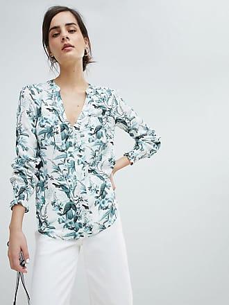 Oasis Skjorta utan krage i blommigt mönster - Flerfärgad b2f54a2dea387