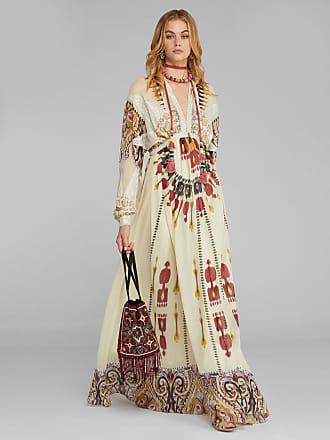 Etro Kleid Mit Ikat- Und Paisley-print, Damen, Weiß, Größe 40