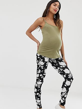 58ea092fc460 Asos Maternity ASOS DESIGN Maternity over the bump leggings in mono floral  print - Multi