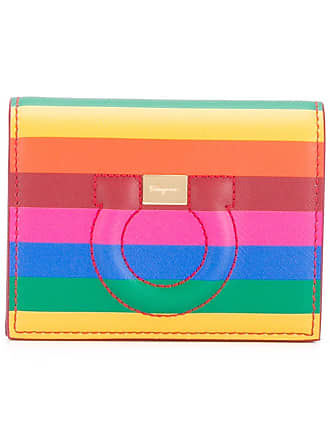 Salvatore Ferragamo Rainbow Gancini card case - Vermelho ed87f575c3
