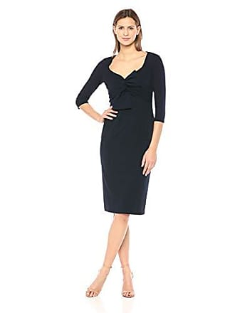 2b9bbc9d933 Maggy London Womens Solid Scuba Twist Neck midi Sheath Dress