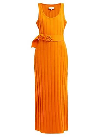 165a132dee Mara Hoffman Harlow Ribbed Cotton Midi Dress - Womens - Orange