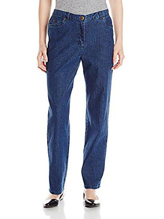 Ruby Rd. Womens Petite Classic 5-Pocket Fly Front Denim Jean, Indigo, 16