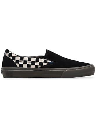 Vans black Vault Slip On checkerboard suede sneakers 187f68ca1