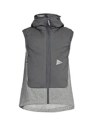 e7a9e3fb855 And Wander Hooded Fleece Gilet - Mens - Dark Grey