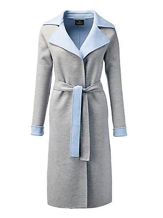Lichtblauwe wollen mantel