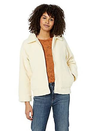 Rvca Juniors TED Sherpa Zip Through Fleece Jacket, Vintage White, L