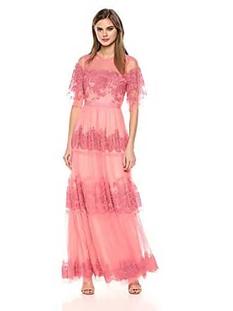 c67799839a7 Bcbgmaxazria BCBGMax Azria Womens Floral Embroidered Tulle Maxi Dress