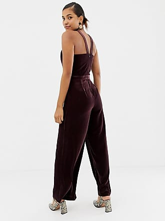 61410b67a3d Oasis jumpsuit with twist neck in burgundy - Purple