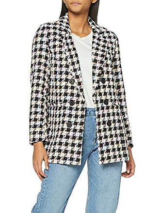 c5d651ba8766 New Look Pastel Check Boucle 6058514 Chaqueta Negro (Black Pattern 9) 36  (Talla