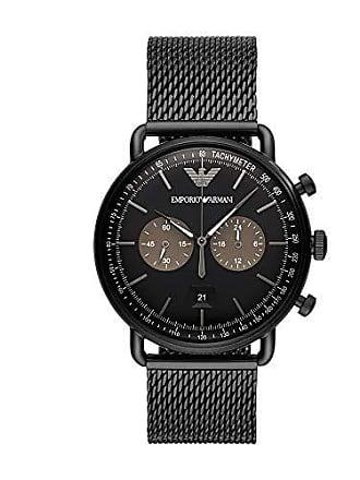 Emporio Armani Relógio Empório Armani Masculino Aviator Preto Ar11142/1pn