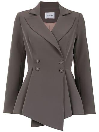 OLYMPIAH Papa wrap style blazer - Grey