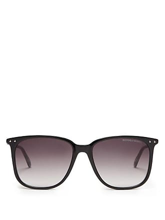 Bottega Veneta D Frame Acetate And Metal Sunglasses - Mens - Black