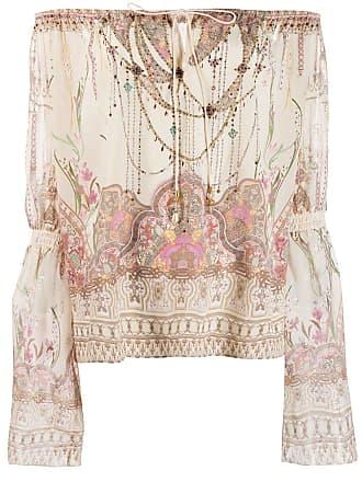 Camilla off shoulder printed blouse - Neutrals