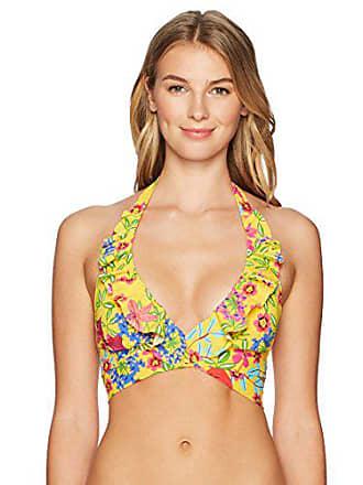 e3a4010fb72 Bleu Rod Beattie Womens Ruffle Double Wrap Halter Bikini Top