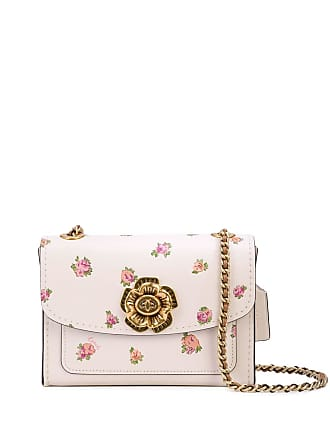 Coach floral print crossbody bag - White