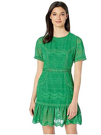 J.O.A. Lace Paneled Mini Dress (Emerald) Womens Clothing