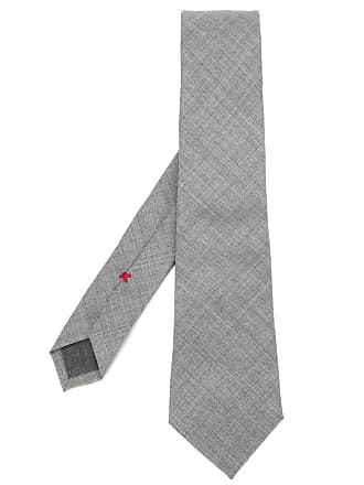 Brunello Cucinelli Gravata texturizada de lã - Cinza