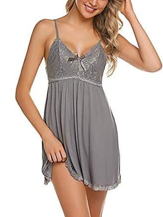 e469e8d6d1 ADOME Negligee Sexy BH Babydoll Nachtwäsche Sleepwear Nachthemd für Damen  Spitze Nachtkleid Dessous mit Spitzendetail