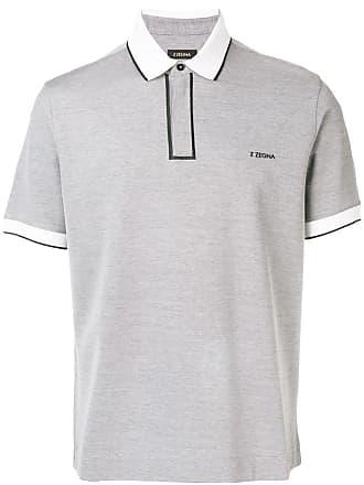 Ermenegildo Zegna contrast piped polo shirt - Grey