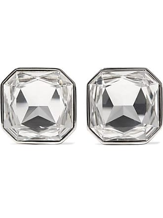 449157995adb Saint Laurent Smoking Silver-tone Crystal Clip Earrings