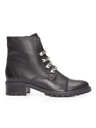 Schutz BOTA FEMININA BURNED LEATHER - PRETO