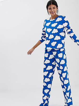 Asos Tall ASOS DESIGN Tall mix   match cloud pyjama traditional jersey  trouser ee237b62e