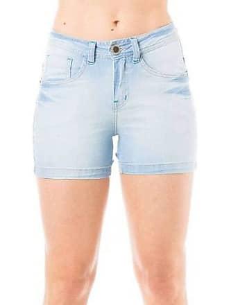 Eventual Short Jeans Feminino Eventual Mid Rise Angie Plus Básico