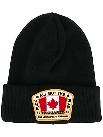 39715e61cf0 Dsquared2 logo patch beanie hat - Black