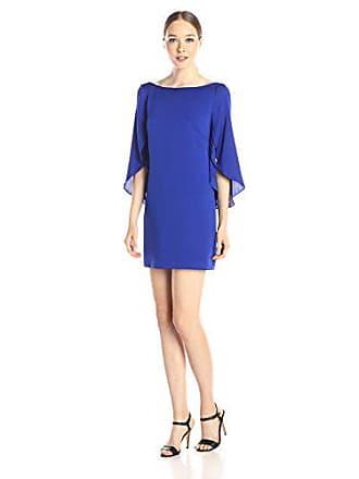 e11e5cac6a3b Milly Womens Stretch Silk Flutter Sleeve Butterfly Mini Dress, Cobalt, 10