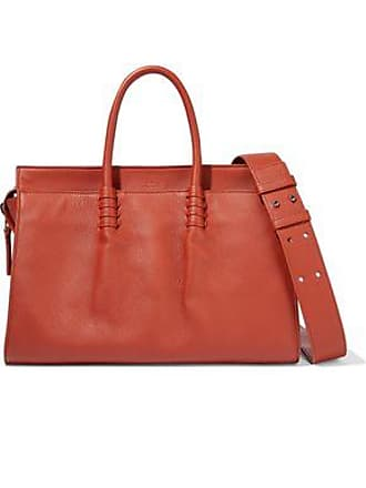 bc4d6ecd8f Tod's Tods Woman Ldm Pebbled-leather Tote Brick Size