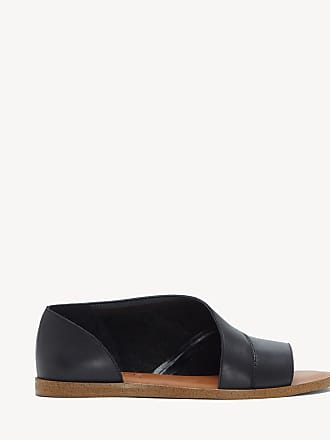 1.State Womens Celvin Asymmetrical Open Toe Flats Black Size 8.5 Leather From Sole Society