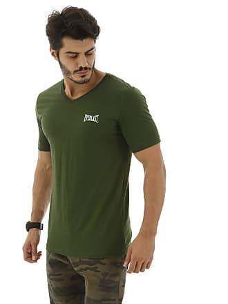 Everlast Camiseta Algodão Básica-GG-Verde Escuro