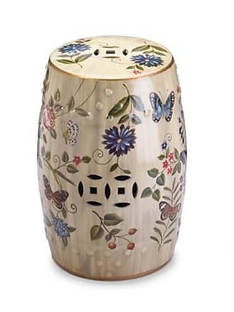 Zingz & Thingz Zingz and Thingz Butterfly Garden Ceramic Stool