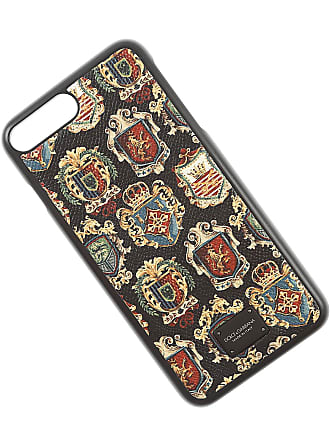 Dolce & Gabbana iPhone Cases On Sale in Outlet, Black, Leather, 2017, One size